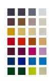 Presentazione dei colori differenti isolati su un fondo bianco Fotografie Stock Libere da Diritti