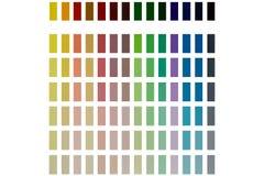 Presentazione dei colori differenti isolati su un fondo bianco Immagine Stock Libera da Diritti