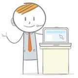 Presentazione del computer portatile Immagine Stock Libera da Diritti