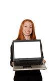Presentazione del computer portatile Immagine Stock