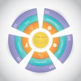 Presentazione del diagramma di punto del circolo Immagini Stock Libere da Diritti