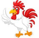 Presentazione del gallo del fumetto Fotografia Stock