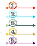 Presentazione del processo di lavoro a cinque punti royalty illustrazione gratis