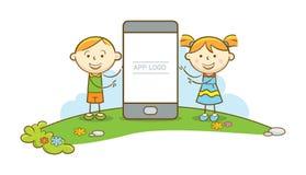 Presentazione del telefono cellulare Fotografia Stock Libera da Diritti