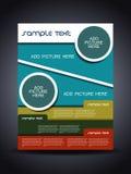 Presentazione dell'aletta di filatoio o della copertura corporativa creativa Fotografia Stock