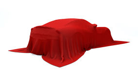 Presentazione dell'automobile sportiva rossa Immagini Stock Libere da Diritti