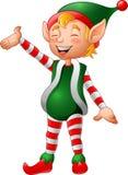 Presentazione dell'elfo di Natale del fumetto Fotografie Stock Libere da Diritti