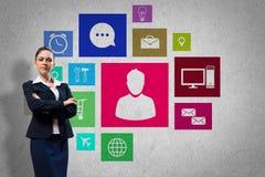Presentazione dell'interfaccia Fotografia Stock