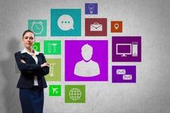 Presentazione dell'interfaccia Fotografie Stock Libere da Diritti