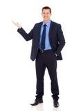 Presentazione dell'uomo d'affari Immagini Stock