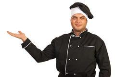 Presentazione dell'uomo del cuoco unico Fotografie Stock