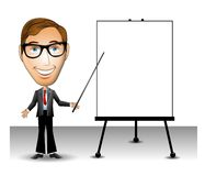 Presentazione dell'uomo di affari illustrazione di stock