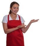 Presentazione della cameriera di bar cinese Fotografie Stock