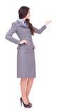 Presentazione della donna di affari Immagini Stock