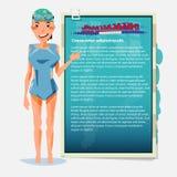 Presentazione della ragazza di nuoto beneficio dello sport di nuoto - vettore Fotografia Stock Libera da Diritti