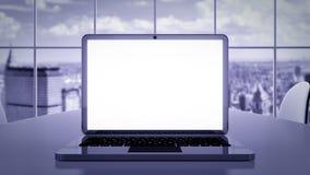 Presentazione di affari del computer portatile