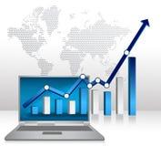 Presentazione di affari del computer portatile riuscita Fotografia Stock