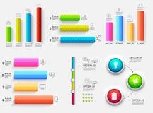 presentazione di affari del diagramma di grafico 3d Concetto di progetto realistico dell'illustrazione di vettore Insieme dei sim Immagine Stock