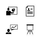 Presentazione di affari Icone relative semplici di vettore royalty illustrazione gratis