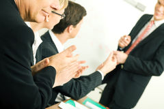 Presentazione di affari: successo Fotografie Stock