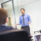 Presentazione di affari sulla riunione corporativa Fotografie Stock