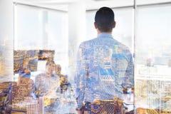 Presentazione di affari sulla riunione corporativa Fotografia Stock