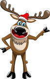 Presentazione di Natale della renna isolata Immagine Stock