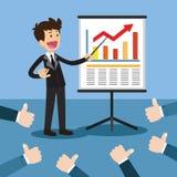 Presentazione di progetto di affari Immagini Stock
