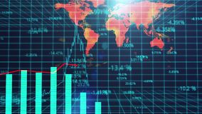 Presentazione generata da computer della rassegna del mercato globale, analisi statistica royalty illustrazione gratis