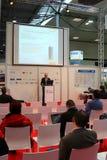 Presentazione nell'Expo del calcolatore di CEBIT Immagine Stock
