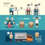 Presentazione stabilita della gente di concetto di e-shopping di progettazione di affari, piano Immagini Stock