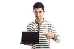 Presentazione su un computer portatile Fotografie Stock