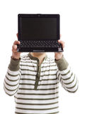 Presentazione su un computer portatile Fotografia Stock