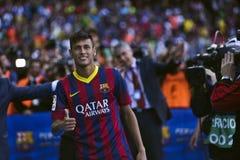 Presentazione ufficiale di junior di Neymar come giocatore del FC Barcelona fotografia stock