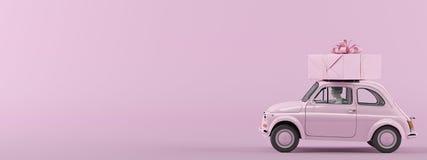 Presentbox är kommande framförande 3d Royaltyfria Foton