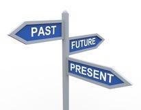 Presente, último y futuro Foto de archivo libre de regalías
