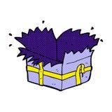 presente abierto de la historieta cómica Fotos de archivo libres de regalías
