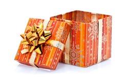 Presente abierto de Navidad Imágenes de archivo libres de regalías