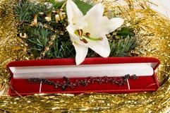 Presente ao Natal. Fotos de Stock
