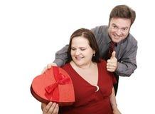 Presente bem sucedido do Valentim foto de stock royalty free