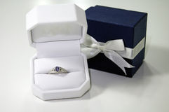 Presente bonito do anel Imagens de Stock Royalty Free