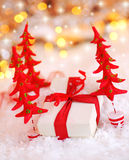 Presente bonito do Natal Foto de Stock Royalty Free