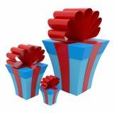 Presente Boxes Fotos de Stock