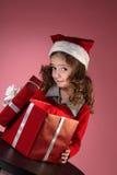 Presente-caixa do Natal Imagem de Stock