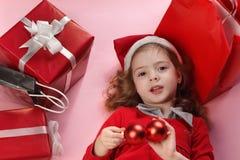 Presente-caixa do Natal Fotografia de Stock