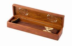 Presente-caixa vietnamiana com chopsticks para dentro Fotos de Stock Royalty Free