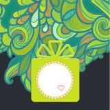 Presente com verde floral Imagem de Stock Royalty Free