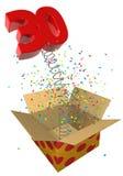 Presente con cumpleaños del resorte 30 ilustración del vector