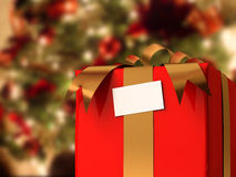 Presente con el árbol de Navidad stock de ilustración