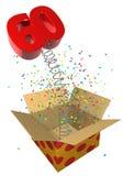 Presente con il compleanno della sorgente 60 Immagine Stock